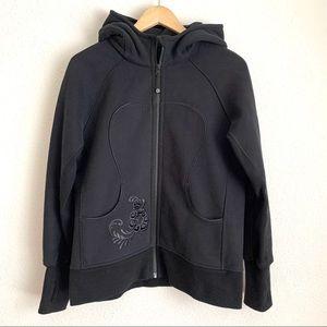 Lululemon hiver 2013 black scuba zip up hoodie